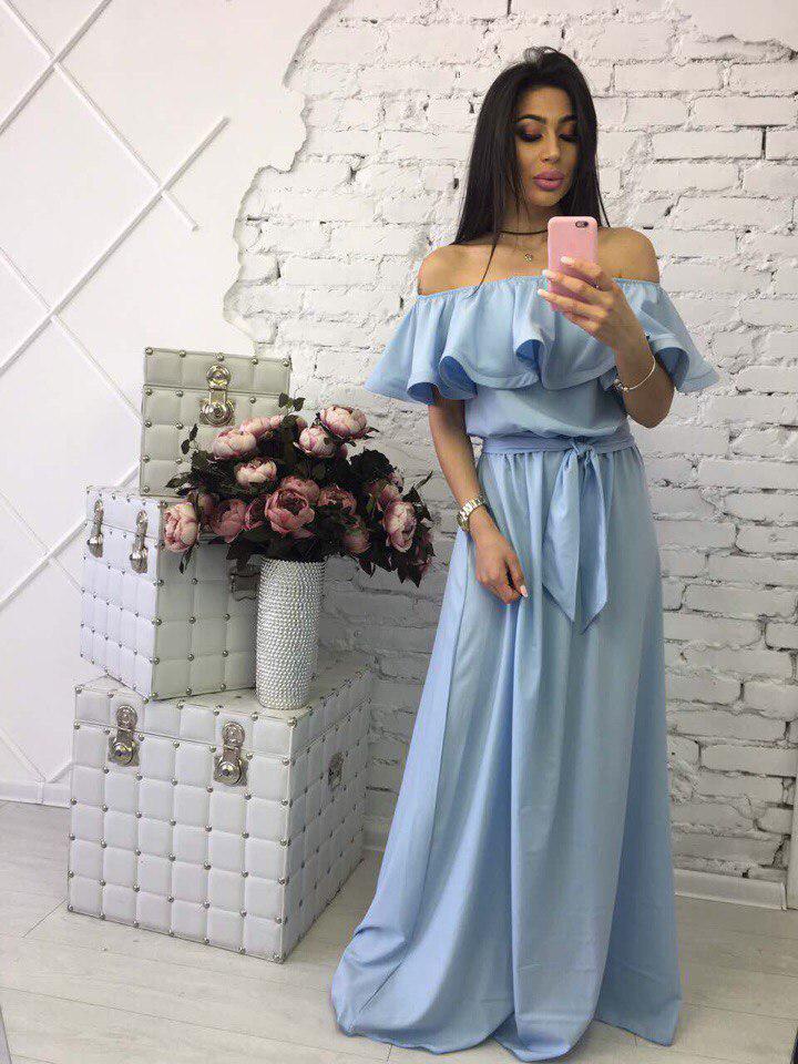 e367d4e21e8ebba Длинное летнее платье в пол шифон - Интернет-магазин