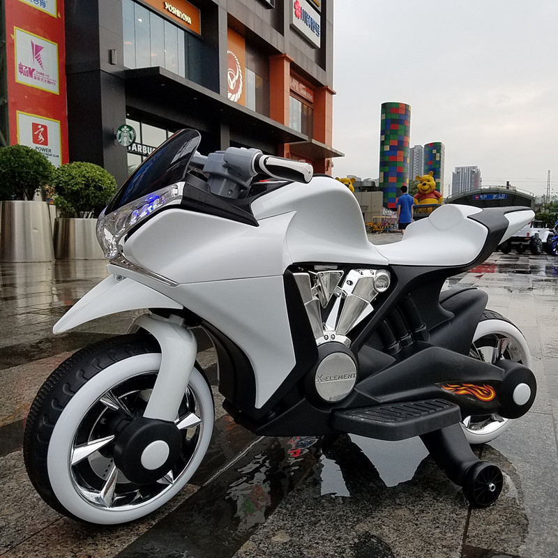 Детский мотоцикл BMW M 3682-1: 12V, 45W, USB/SD - БЕЛЫЙ - купить оптом