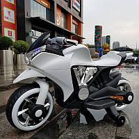 Детский мотоцикл BMW M 3682-1: 12V, 45W, USB/SD - БЕЛЫЙ - купить оптом , фото 1