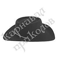 Шляпа Ковбоя Флок (черная)