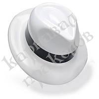 Шляпа Мужская пластик с лентой (белая)