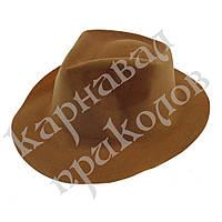 Шляпа Мужская флок (коричневая)
