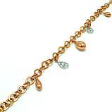 Позолоченный браслет с плетением шопард, фото 2