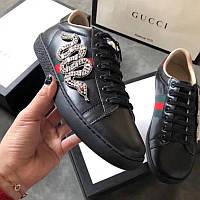 Gucci Ace кожаные кроссовки с вышивкой