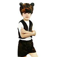 Маскарадный костюм меховой Медведь коричневый (размер S)