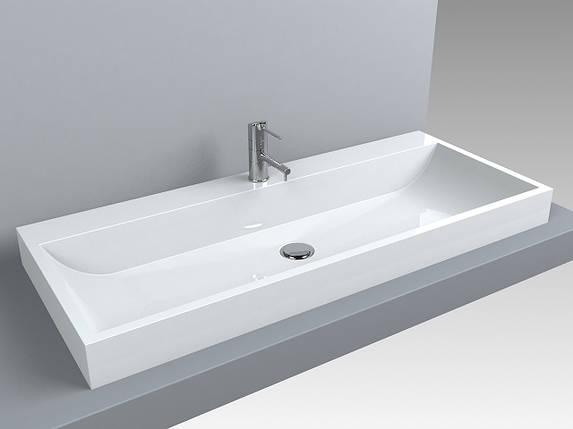 Раковина для ванной Miraggio VARNA 1000 (белый глянцевый/ 100*42 см), фото 2