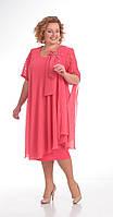 Платье Pretty-254/3 белорусский трикотаж, корраловый, 56