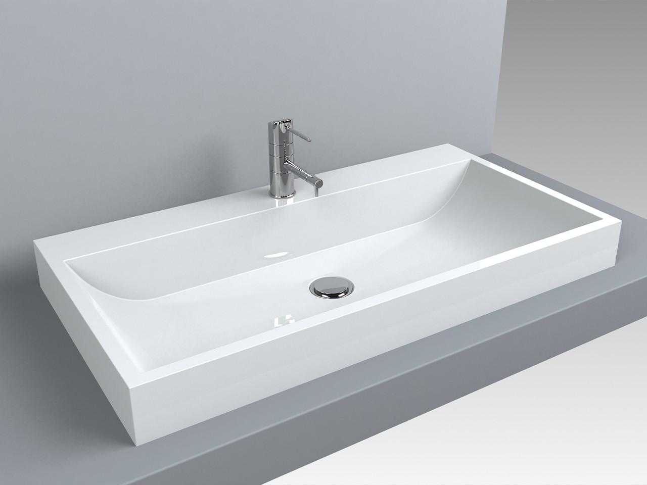 Раковина для ванной Miraggio VARNA 800 (белый глянцевый/ 80*42 см)