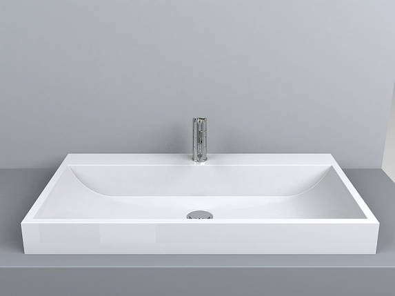 Раковина для ванной Miraggio VARNA 800 (белый глянцевый/ 80*42 см), фото 2