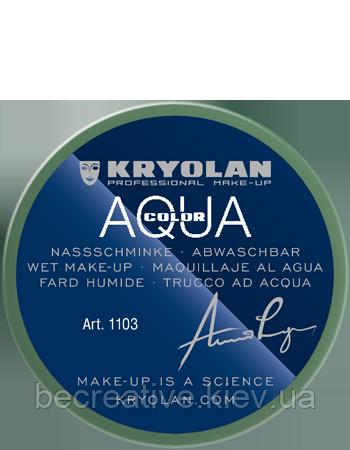 Зеленый  аквагрим AQUACOLOR 55 мл (оттенок 730)
