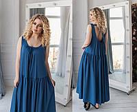 Стильное длинное в пол женское платье в стиле бохо. 5 цветов.Размеры : универсал 48-54.