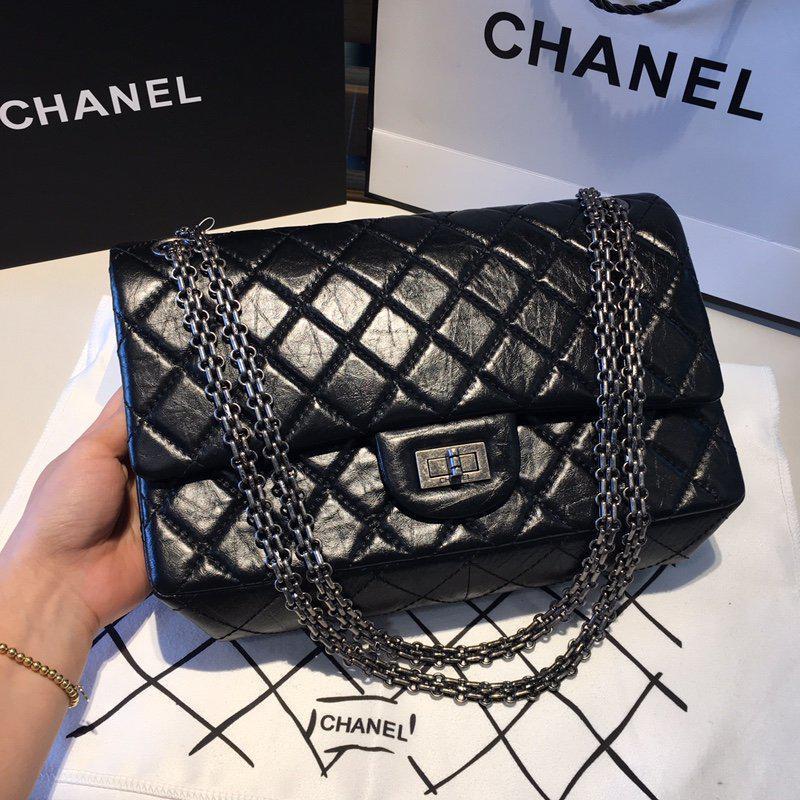 58f190cb99d5 Chanel черная женская сумка-клатч через плечо - Интернет магазин брендовой  обуви
