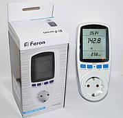 Счётчик электроэнергии  Feron TM55, розетка - энергометр