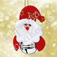 Подвеска бубенчик Дед Мороз (серебро)