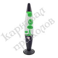 Лава лампа с парафином (34см) зеленая