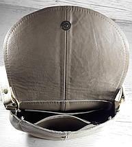 314 Натуральная кожа, Сумка кросс-боди, песочный, комбинированный, фото 3