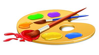 Краски, палитра, кисточки