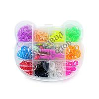 Оптовая распродажа! Резиночки для плетения Органайзер (500шт) Китти