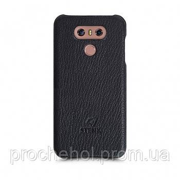Кожаная накладка Stenk Cover для LG G6 Черный