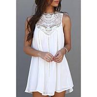 Кружевное мини платье-туника