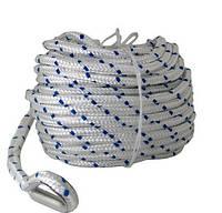 Верёвка толщиной 10 мм, длина 30м для якоря на лодку