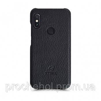 Кожаная накладка Stenk Cover для Xiaomi Redmi Note 5 Pro Черный