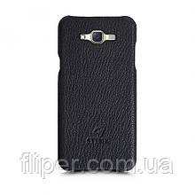 Кожаная накладка Stenk Cover для Samsung Galaxy J7 (J700H) Черный