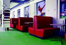 Перетяжка мебели торговых и развлекательных центров Днепропетровск