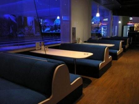 Перетяжка мебели торговых и развлекательных центров Днепра.