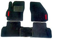 Текстильные коврики в салон на Mazda 5(три ряда) Черные ( Mazda PREMACY )