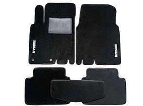 Текстильные коврики в салон на Nissan Almera II 2000-2006 Черные