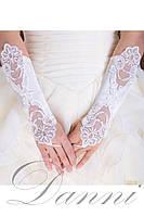 Белые свадебные перчатки