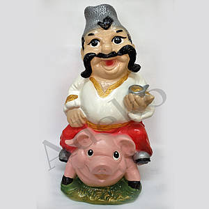 Фигурка Казака верхом на свинье 54 см