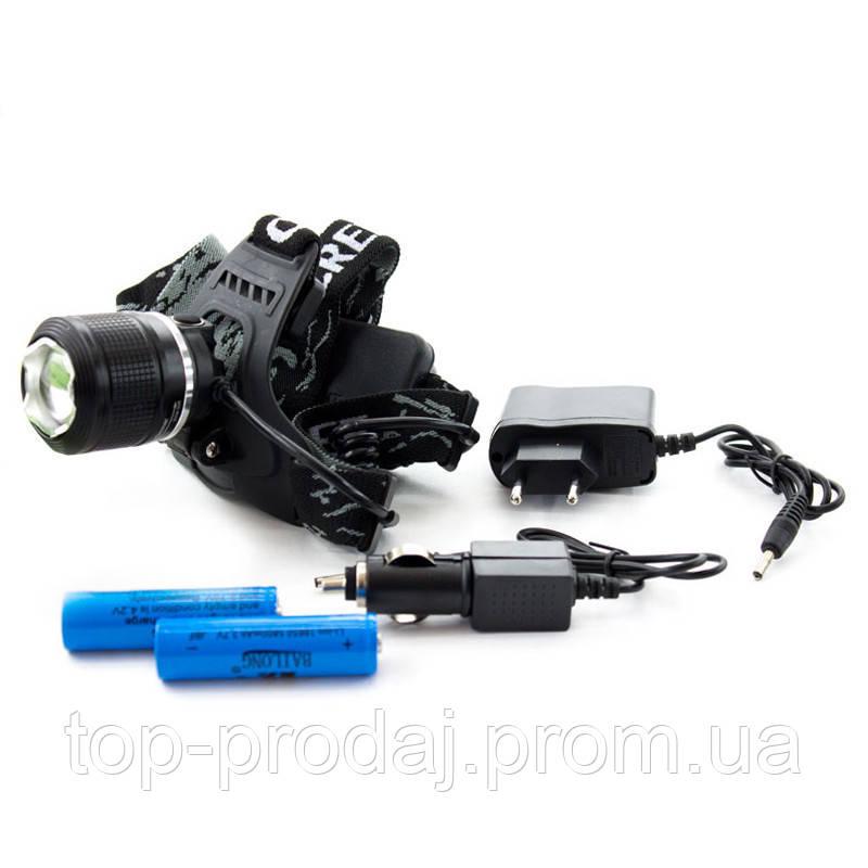 Сверхмощный налобный фонарь BL 2198-2, Фонарь на голову, Аккумуляторный фонарь налобный, Налобный тактический