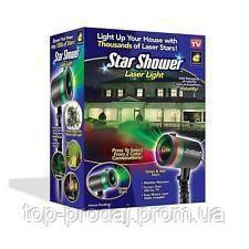 Лазерный звездный проектор Star Shower Laser Light, Лазерный проектор для шоу, Светящийся уличный проектор