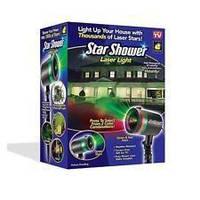 Лазерный звездный проектор Star Shower Laser Light, Лазерный проектор для шоу, Светящийся уличный проектор, фото 1