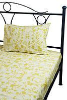 Комплект полуторный постельное белье сатин (пододеяльник, наволочка) ТМ Руно бежевий 12.137