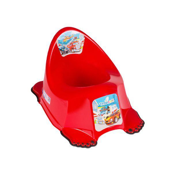 Горшок Tega Cars PO-048 антискользящий music красный