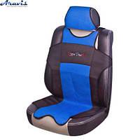Майки  на передние сиденья 7214 MILEX Classic 2+1 BUS синие/черн