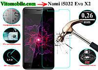 Защитное стекло Nomi i5032 Evo X2 / 2,5D / олеофобное покрытие