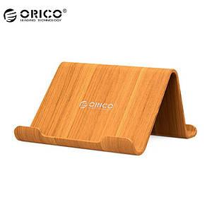 Двухсторонняя многофункциональная подставка Orico WMS под планшет или телефон (Бамбук)