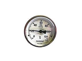 "Термометр биметаллический Pakkens ø63мм / Tmax=120°С / резьба 1/2"" / Турция"