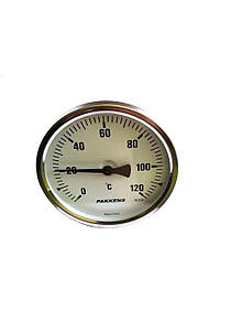 "Термометр биметаллический Pakkens ø100мм / Tmax=120°С / резьба 1/2"" / Турция"