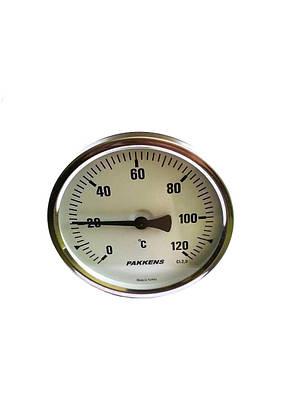 """Термометр биметаллический Pakkens ø100мм / Tmax=120°С / резьба 1/2"""" / Турция, фото 2"""