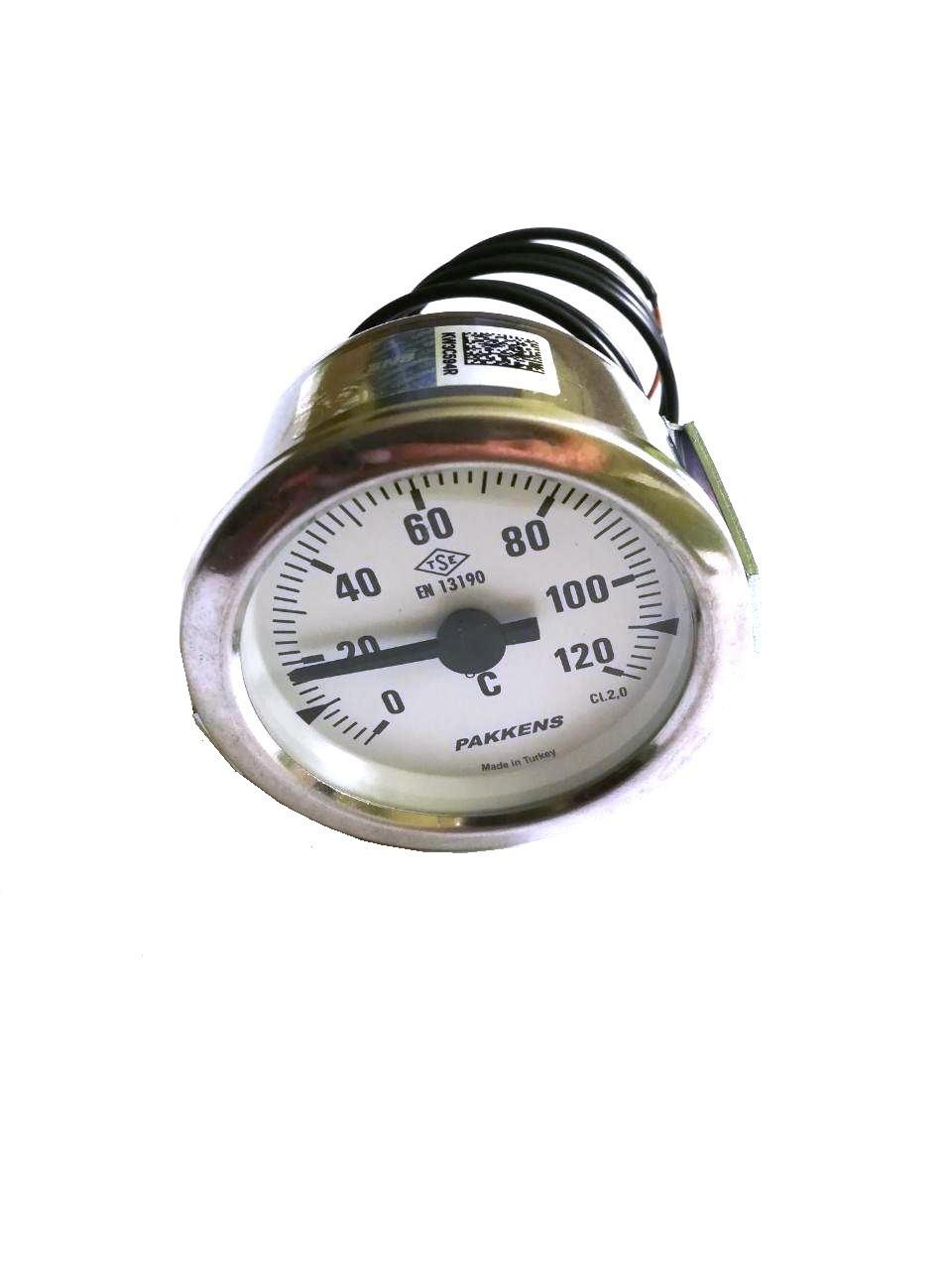 Термометр капиллярный Pakkens ø60мм / длинна капиллярный 2м / Tmax=120°С / Турция