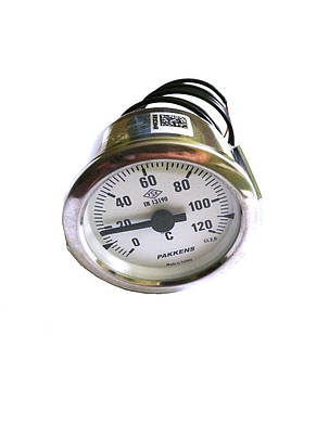 Термометр капиллярный Pakkens ø60мм / длинна капиллярный 2м / Tmax=120°С / Турция, фото 2