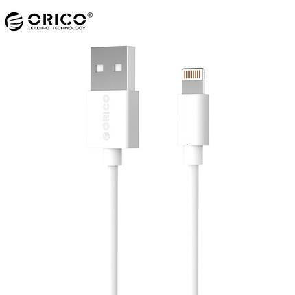 Кабель Lightning Orico LTG-10 для зарядки и передачи данных iPhone/iPad/iPod (Белый, 1м), фото 2