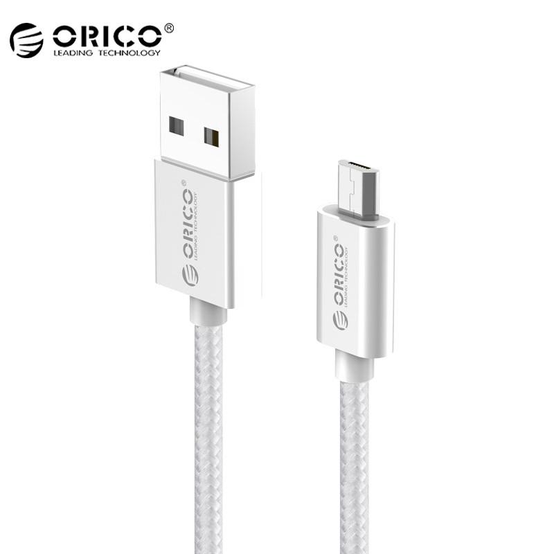 Кабель Micro USB Orico EDC-10 для зарядки и передачи данных (Серебристый, 1м)
