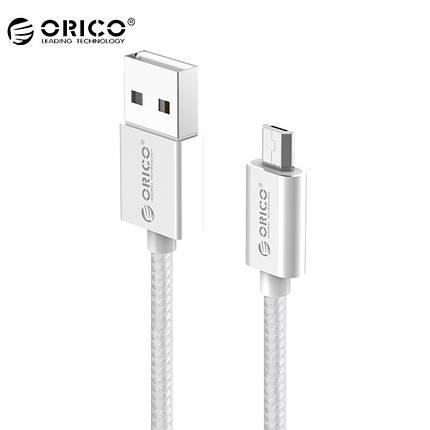 Кабель Micro USB Orico EDC-10 для зарядки и передачи данных (Серебристый, 1м), фото 2