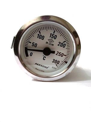 Термометр капиллярный Pakkens ø60мм / Tmax=300°С / длинна капилляра 1м / Турция, фото 2